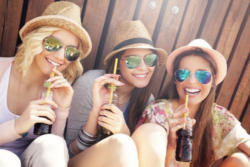 vrouwen suikervrije limonade